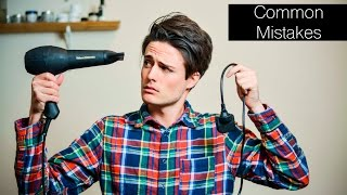3 Popular/Common Hairstyling Mistakes | Mens Hair Tips