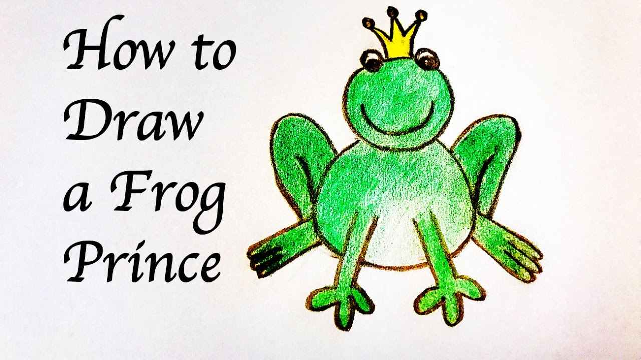 drawing for kids how to draw a frog prince สอนเด กๆวาดเจ าชายกบ