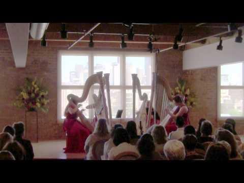 Chicago Harp Quartet - Rubric from 'Glass Works' Philip Glass/arr. ML Williams