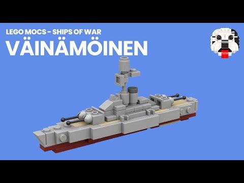 LEGO Finnish Coastal Defence Ship Vainamoinen MOC [Video Instructions]