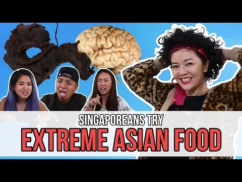Singaporeans Try: Extreme Asian Food (feat. Lulu) | EP 77