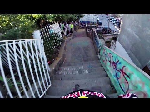 Insane Urban DH Mountain Bike POV - Red Bull Valparaiso Cerro Abajo 2015 להורדה