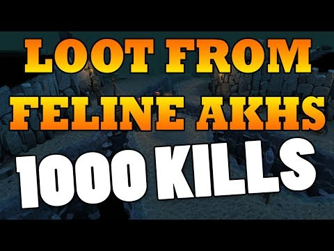 Runescape 2017 | Loot From 1000 Feline Akhs | Amazing Slayer Xp Per Hour 270k | Menaphos Dungeon