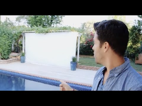 build an outdoor movie screen youtube. Black Bedroom Furniture Sets. Home Design Ideas