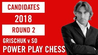 World Chess Candidates 2018 | Berlin | Round 2 - Grischuk v So