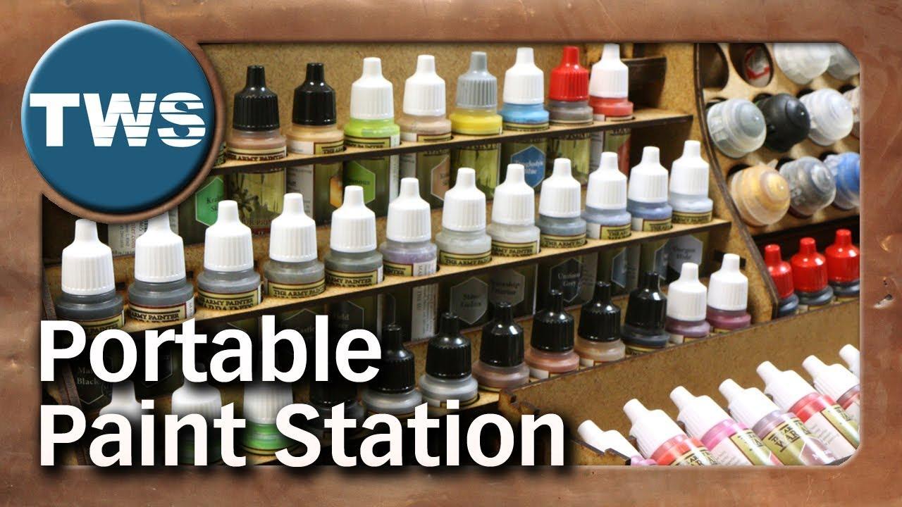 im test portable paint station tabletop mal zubehör tws youtube