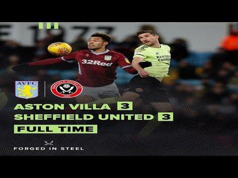 Aston Villa 3 - 3 Sheffield United   ALL GOALS HD & HIGHLIGHT   EPIC DRAW COMEBACK   ( 09/02/2019 )