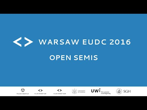 Warsaw EUDC 2016 - Open Semis [Channel 1]