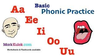 Basic Phonic Vowels Sounds, Aa Ee Ii Oo Uu | English Pronunciation Practice | ESL | Learn The Basics