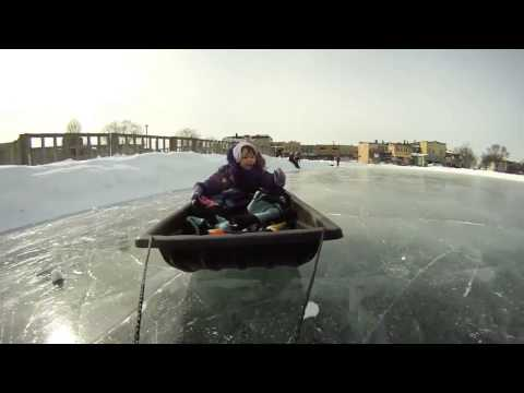 ICE SCOOTER: Towing a Sled