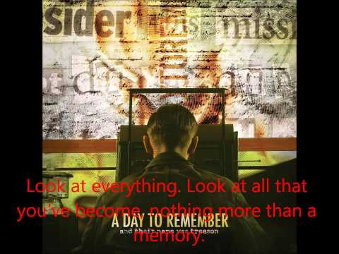 05 A Day to Remember - Casablanca Sucked Anyways - Lyrics