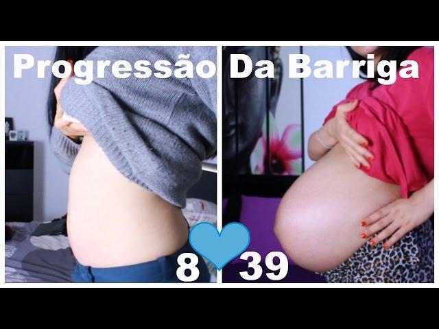 A minha primeira gravidez   Evolução e crescimento da Barriga   Semana 8-40