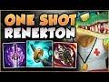WTF! ONE ITEM GIVES 100% CRIT ON RENEKTON W??? RENEKTON SEASON 8 TOP GAMEPLAY! - League of Legends