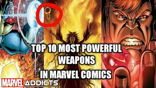TOP 10 MOST POWERFUL WEAPONS IN MARVEL|MARVEL ADDICTS|MARVEL COMICS|#TRENDING #MARVEL#AVENGERS#VENOM
