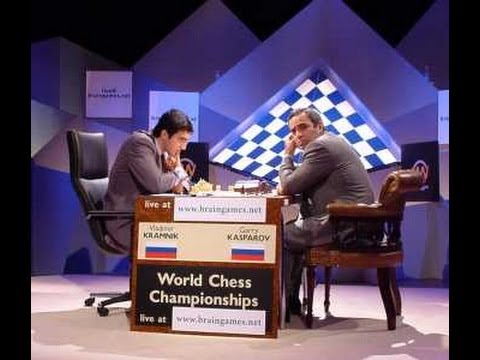 Kasparov Kramnik Match 1 World Chess Championship 2000 (live)