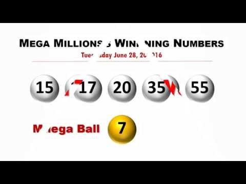 Mega Millions Winning Numbers June 28, 2016; jackpot to $415 million