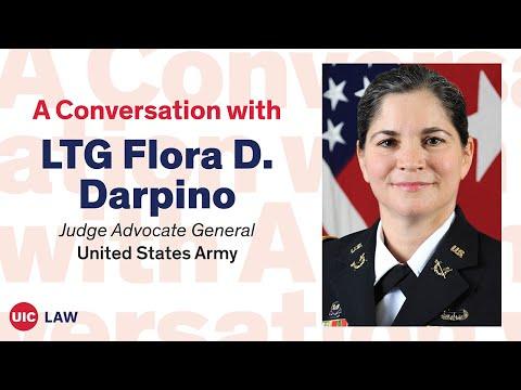 A Conversation w/ Dean Darby Dickerson: LTG Flora D. Darpino, Judge Advocate General U.S. Army