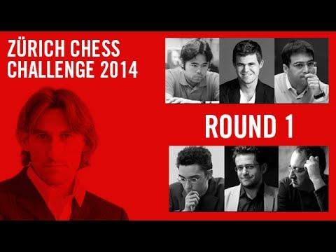 Zuerich Chess Challenge 2014 Round 1 Magnus Carlsen vs Boris Gelfand