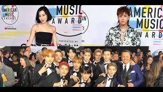 Tiffany Young, NCT 127, & Kris Wu hit the red carpet at the 'AMAs 2018' + BTS win!