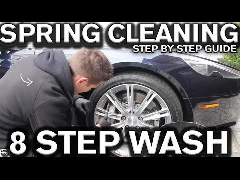 8 Step Car Spring Cleaning Wash and Wax