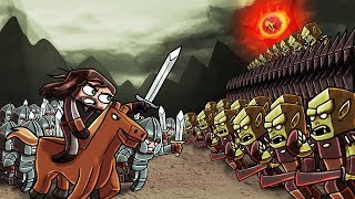 Minecraft | Good vs Evil - LORD OF THE RINGS BLACK GATE! (Eye of Sauron)