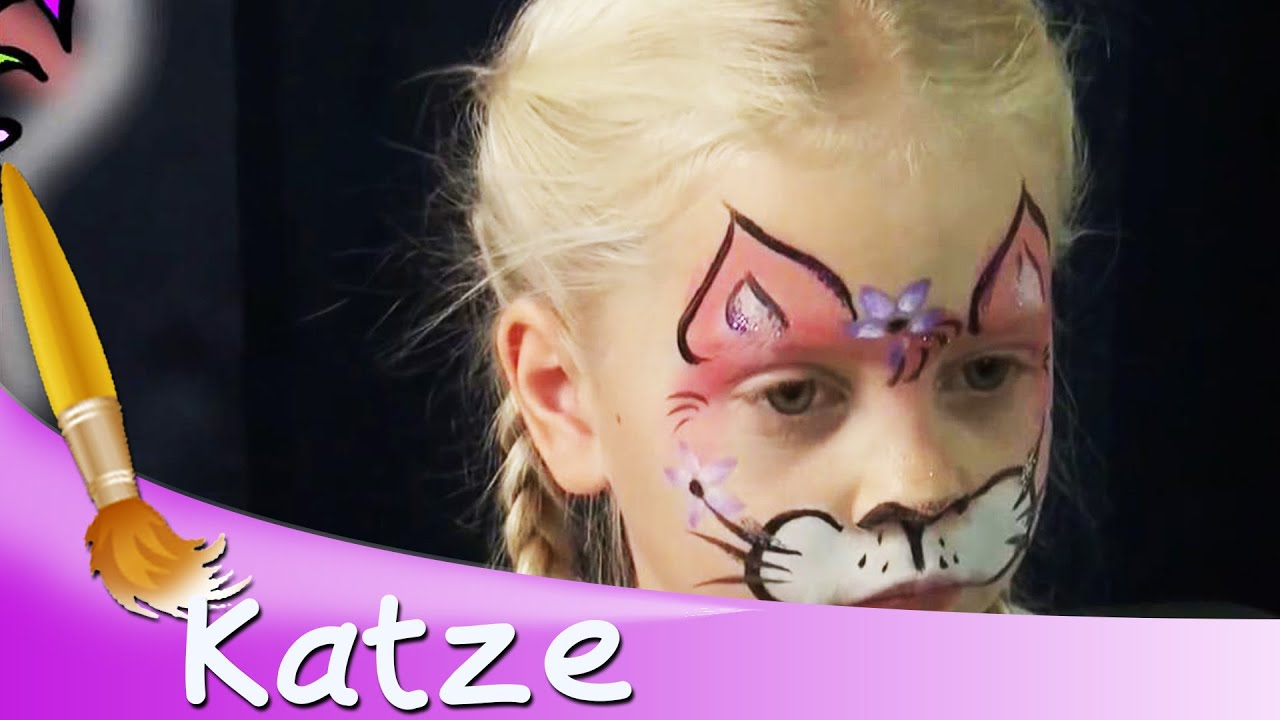 Kinderschminken Katze Gesicht Tutorial || HD - YouTube