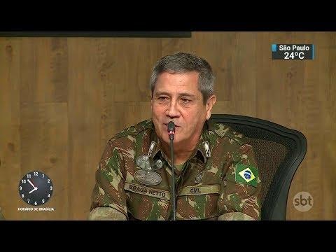 RJ: general Braga Netto convoca imprensa para falar sobre intervenção | SBT Brasil (27/02/18)
