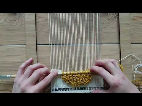 Making a Woven Wall Hanging - Step 5: Loops (pile weave) - Weaving for Beginners