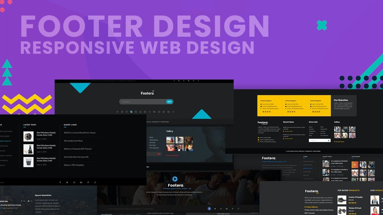 How to Create Amazing Footer Design using HTML, CSS, Bootstrap and JavaScript