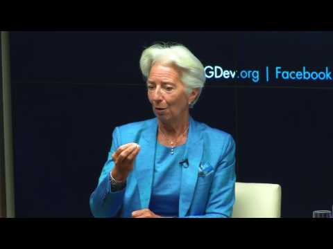Center for Global Development Discussing with Christine Lagarde