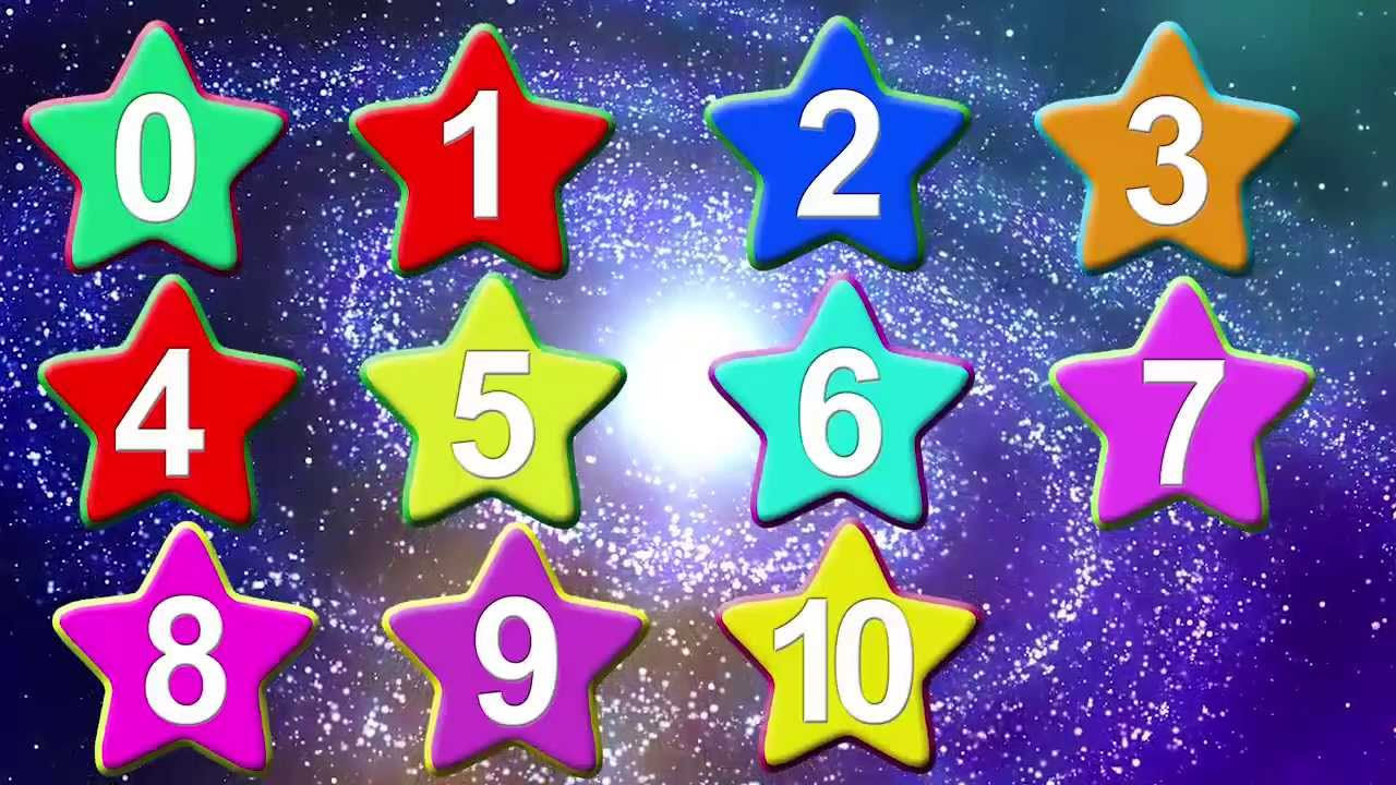 123 Little Numbers With Cute Star Shape