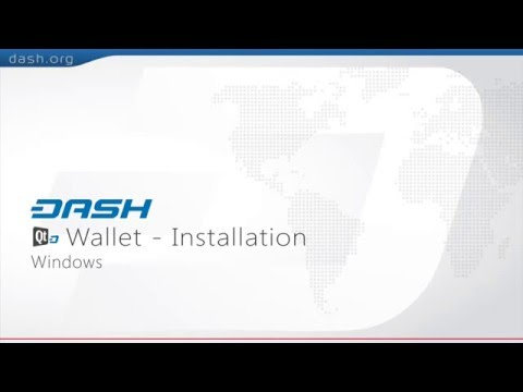 Dash: QT Wallet Installation Guide - PC =G15E03