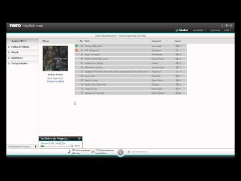 Musik CD rippen Audio CD einlesen  als MP3, MP4 oder FLAC mit Nero MediaHome
