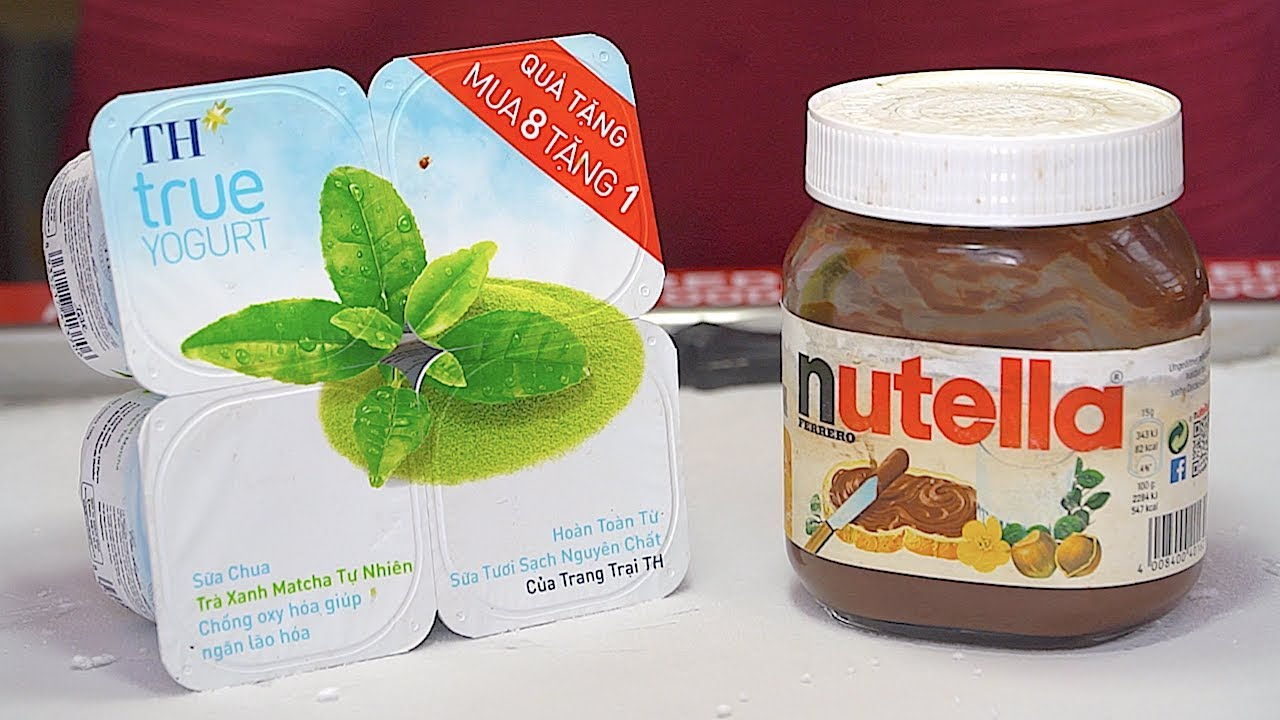 MIXED!! Nutella & Yogurt Ice Cream Rolls