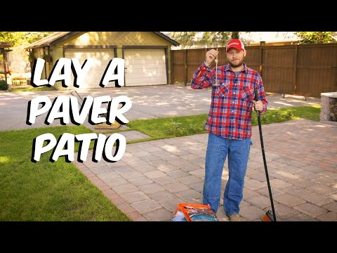 Build With Roman – How To Lay a Paver Patio