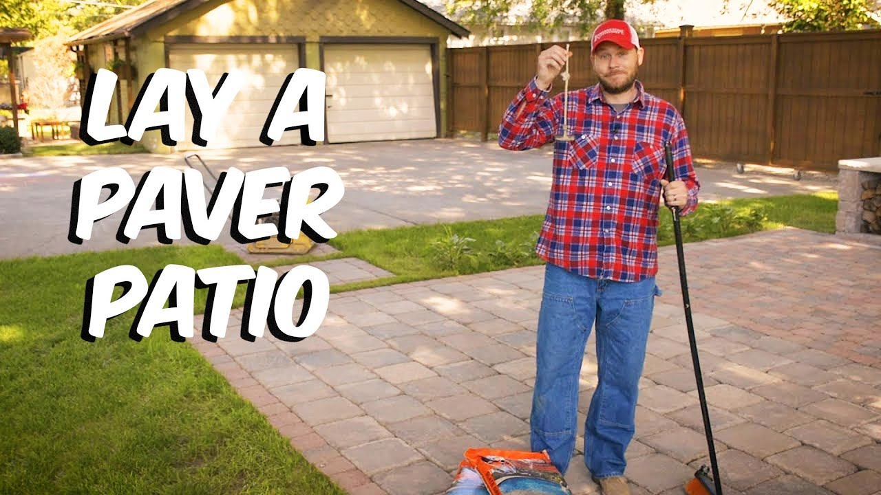 build with roman how to lay a paver patio youtube