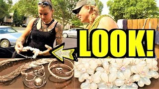 Ep130: GARAGE SALE JEWELRY FINDS - COME ALONG WITH US!