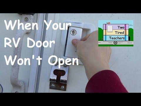 When RV Doors are Hard to Open - How to open Stuck RV door - RV DIY $  saving Tip