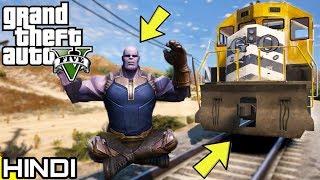 THANOS vs TRAIN in GTA V | KrazY Gamer |