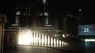 #BeThere ! Dubai Fountain of The Dubai Mall, Enta Omri (Umm Kalthoum) | إنت عمري، نافورة دبي مول