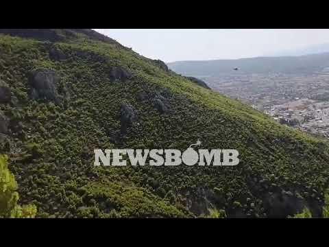newsbomb.gr: Καλύτερη η εικόνα της φωτιάς στο Λουτράκι