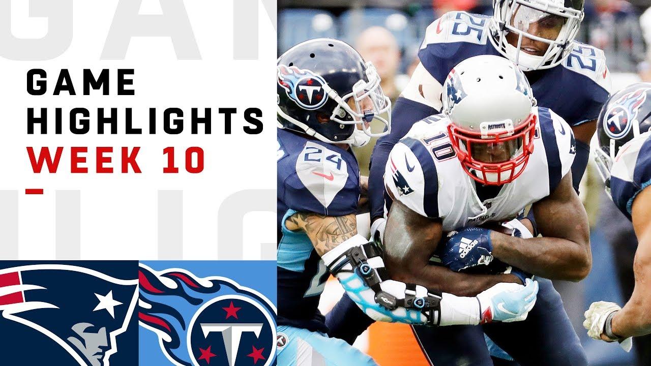 c88e6898 Patriots vs. Titans Week 10 Highlights | NFL 2018