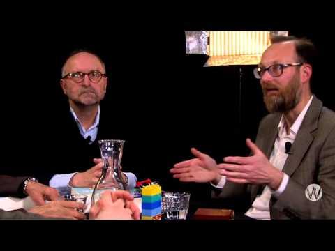 Paul Cliteur met Floris van den Berg, David Pinto en Geerten Waling; Eco Humanisme