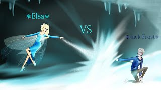Jack Frost Vs Elsa- Black Widow