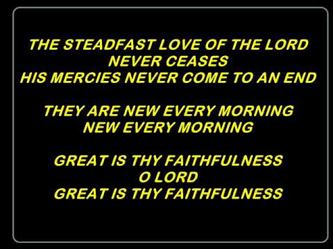 THE STEADFAST LOVE OF THE LORD (backing music with lyrics)
