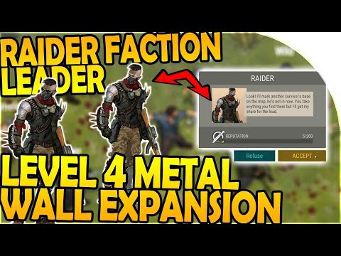 NEW RAIDER FACTION LEADER - LEVEL 4 METAL WALL EXPANSION! -