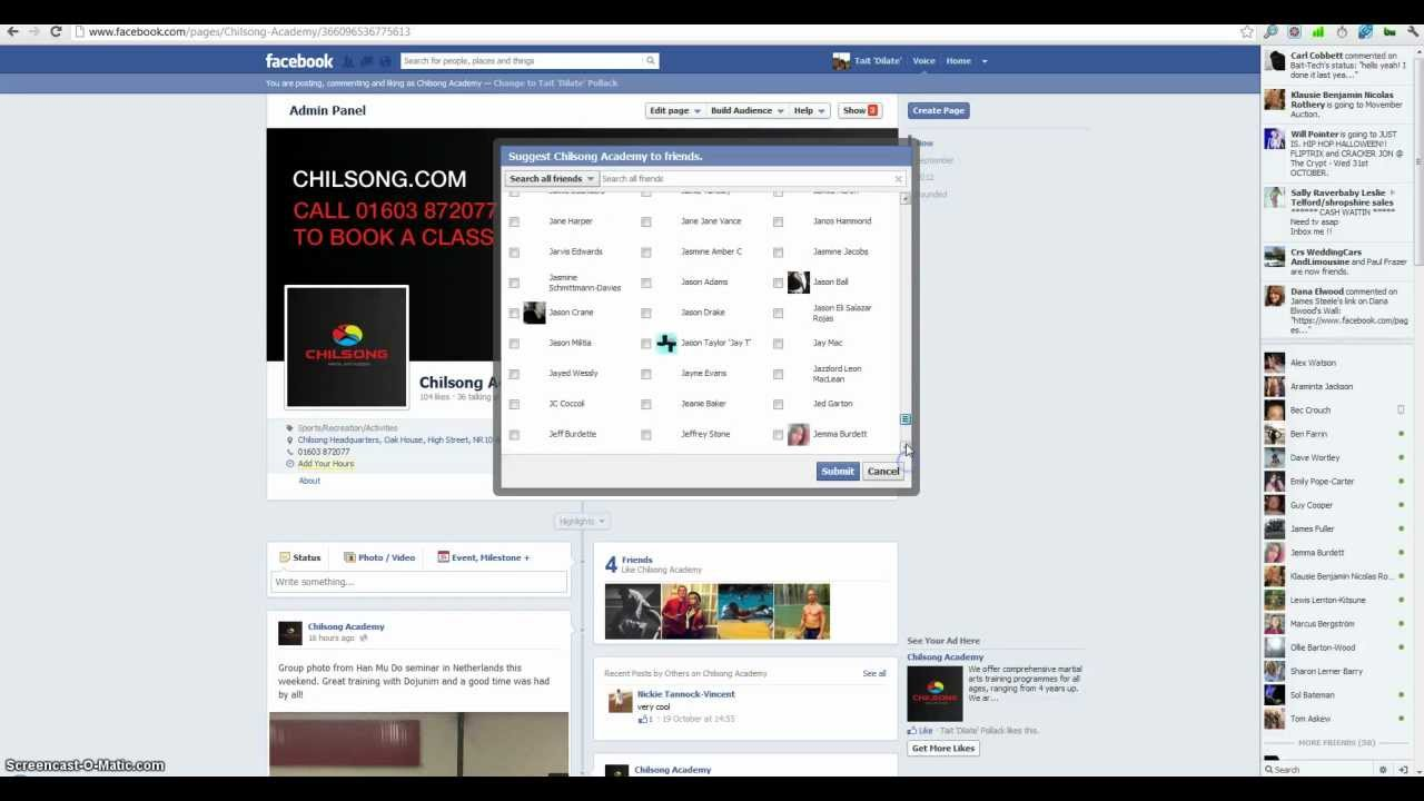 Invite All Friends To Like A Page On Facebook