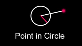 Point Inside Circle Collision Test