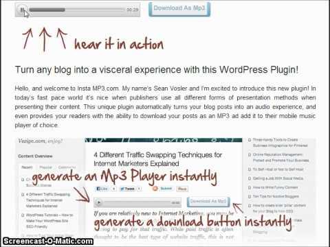 Text To Speech MP3 New Blog Plugin! - WordPress text to speech mp3