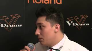 2nd Place Interview ― Jaime Edwin De la Rosa (Mexico) ― V-Drums World Championship 2